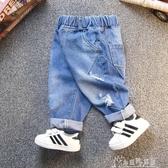 寶寶牛仔長褲男童1-3歲5潮2兒童破洞韓版女童寬鬆褲子潮6 奇思妙想屋