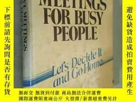 二手書博民逛書店Effective罕見Meetings for Busy People: Let s Decide It and