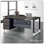【水晶晶家具/傢俱首選】CX0756-1黑天使6呎L型辦公桌櫃全組~~另有反向