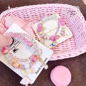 《花花創意会社》夢幻愛麗絲粉彩珠二件式手環.四款【H6588】