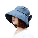 【日本SHF】新一代丹寧風氣質蝴蝶遮陽帽...