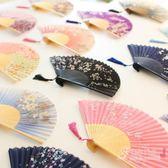 古典折扇夏季女士中國風扇子舞蹈漢服旗袍古風折疊扇和風工藝折扇 【快速出貨】