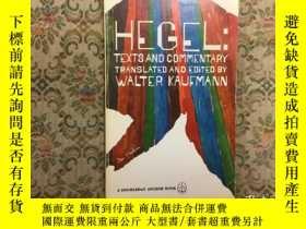 二手書博民逛書店Hegel:罕見texts and Commentary黑格爾: