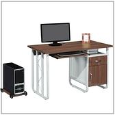 【水晶晶家具/傢俱首選】CX1440-5 T-11 120公分胡桃電腦書桌~~附主機架