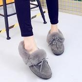 低筒雪靴-時尚磨砂保暖蝴蝶結女平底靴子3色73kg76【巴黎精品】