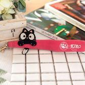 Kiro貓‧小黑貓吊飾手勾繩/手勾帶/包包掛飾/提帶吊飾【820003】