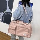 旅行包 帆布旅行包包女大容量短途出門裝衣服收納袋子可套拉杆箱的行李包