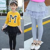 女童打底褲新款童裝女孩網紗裙褲兒童長褲子