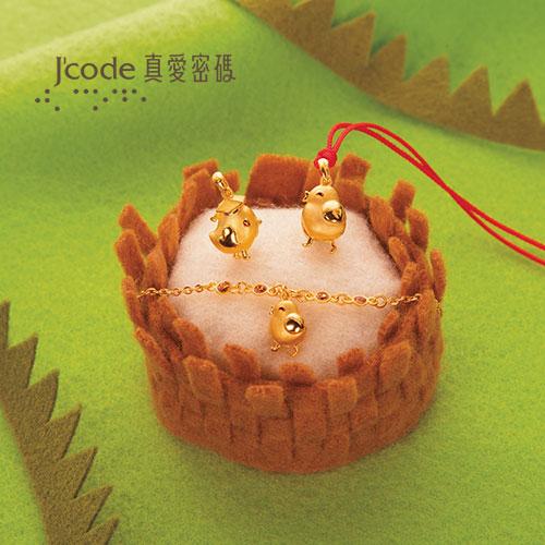 J'code真愛密碼 平安鐘鼓鎖純銀手鍊