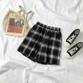 夏裝2018新款女裝韓版原宿風女韓版格子短褲女學生百搭時尚褲子  檸檬衣舍