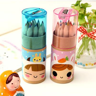 【00319】 日韓文具 可愛星座女孩 12色小鉛筆繪畫筆 塗色筆 彩色鉛筆