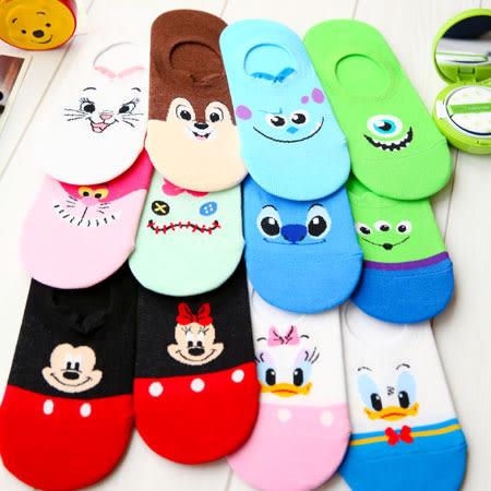 正版迪士尼矽膠止滑隱形襪 隱形襪 船型襪 淺口船襪 襪子 短襪 米奇 米妮 史迪奇 奇奇