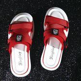 拖鞋女夏外穿新款時尚網紅社會懶人休閒平底百搭港風chic涼拖  草莓妞妞