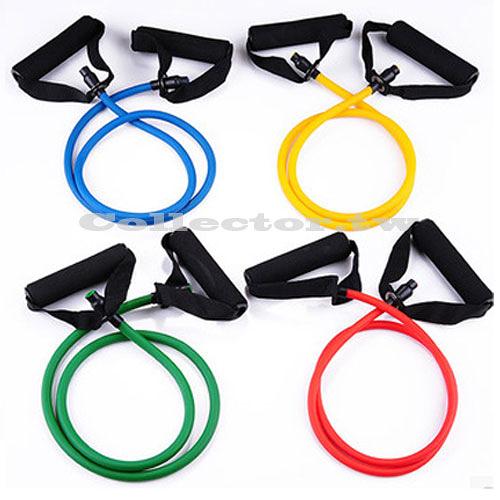 瑜伽彈力拉繩 一字型乳膠管拉力繩 健身伸縮拉力繩