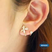 耳環韓國耳釘氣質銀耳釘女蝴蝶925耳釘防過敏女耳環