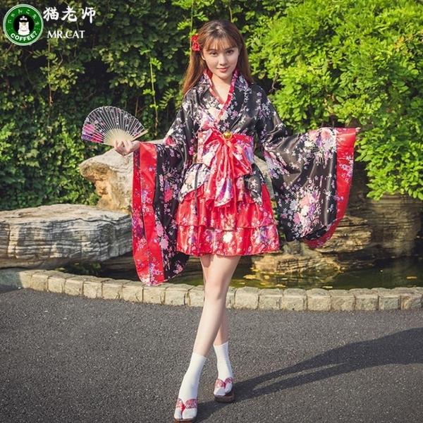 洛麗塔洋裝cosplay服裝日本櫻花和服全套女仆裝【奇趣小屋】
