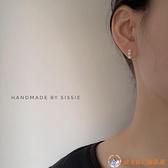 三顆小珍珠耳夾無耳洞女硅膠耳骨夾耳釘耳環【公主日記】