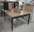 華為書櫃式(左右)4人屏風工作站/木紋辦公桌/工作桌/不含活動櫃
