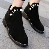 短靴 馬丁靴女英倫風正韓百搭學生平底靴子女單靴