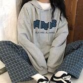 秋冬ins連帽T恤女學生韓版加絨加厚寬鬆原宿BF港風 朵拉朵