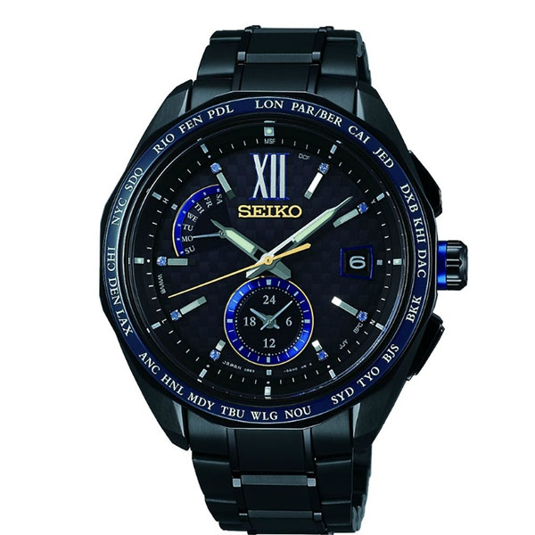 SEIKO  全台限量50支   太陽能電波鈦金屬手錶   8B63-0AP0SD 灰黑
