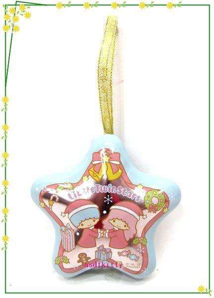 家用【asdfkitty】雙子星聖誕樹掛飾/幸運星星收納鐵盒-可放神祕小禮物或祝語紙條-日本製
