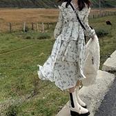 蛋糕裙洋裝 一忘皆空/每層都心動!潑墨感泡泡暗紋面料不規則裙擺蛋糕連衣裙