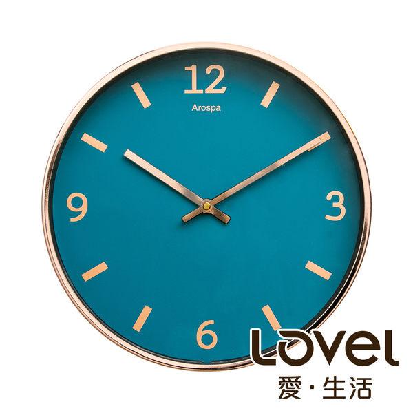 Lovel 30cm玫瑰金框靜音數字時鐘 - 共4款