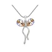 水晶項鍊+925純銀吊墜-高貴典雅生日情人節禮物女飾品5色73bb163【時尚巴黎】