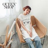 Queen Shop【01084641】可愛字母小狗印花無袖洋裝*現+預*