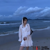 洋裝連身裙春款新白色法式裙子茶歇裙可甜可鹽高級感女裝品牌【邦邦男装】