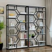 書櫃 創意鐵藝書架書櫃落地隔斷客廳置物架展示架裝飾陳列簡約現代書架 夢藝家