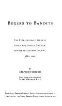 二手書 Boxers to Bandits: The Extraordinary Story of Jimmy and Sophie Graham, Pioneer Missionaries in  R2Y 1593280688