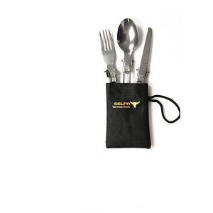 【韓國 Selpa】免洗餐具折疊刀叉勺3件組 X2