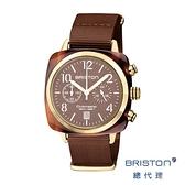 BRISTON 手工方糖錶 可可色 金框 時尚百搭 禮物首選