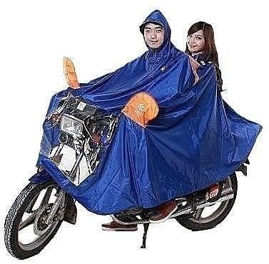 長帽檐機車雨衣  雙人雨披  加厚加大 【藍星居家】