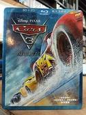 挖寶二手片-0Q01-244-正版藍光BD【Cars3:閃電再起 3D+2D三碟版 附外紙盒】-卡通動畫 迪士尼