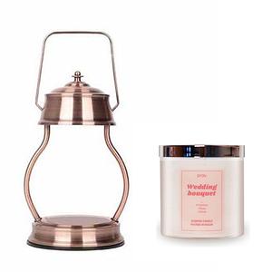 (組)EPOCHSIA x Pray 守夜人金屬香氛蠟燭暖燈(L)-紅棕銅+茉莉