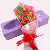 520節禮品9朵大花頭點鉆花束仿真花 創意生日禮物香皂玫瑰花【韓衣舍】