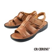 【CR CERINI】輕量氣墊式露趾涼鞋 淺咖(55193-BR)