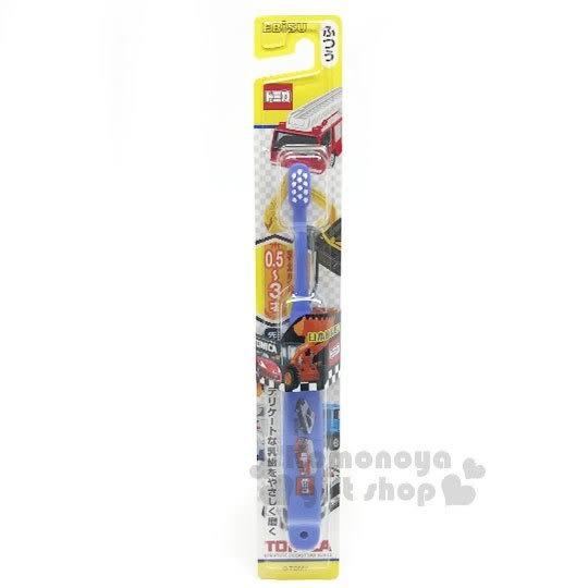 〔小禮堂〕TOMICA小汽車 日製兒童牙刷《藍.多車》盥洗用具.口腔清潔 4901221-07000