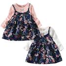 長袖洋裝 粉白小碎花 假兩件連身裙 洋裝...
