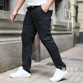 胖子大尺碼商務西裝褲男加肥加大彈力休閒薄西褲男小腳肥佬長褲2XL-6XLxw