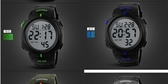 多功能LED夜光防水游泳運動男士電子手表