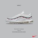 IMPACT Nike Air Max 97 Undefeated White 聯名款 白 紅 綠 AJ1986-100