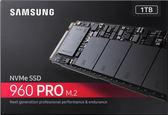 三星 Samsung 960 PRO 1T/M.2 PCle NVMe(讀:3500M/寫:2100M)MLC顆粒 五年保固