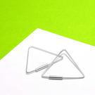 耳環 三角形(大) 造型線狀 純銀耳環-64DESIGN