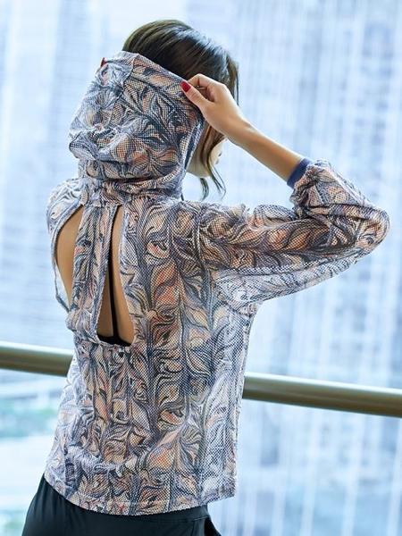 瑜伽短袖健身服女晨跑運動上衣寬鬆大碼速干網紗罩衫瑜伽長袖衣服
