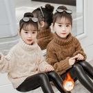 女童高領毛衣洋氣2020新款秋冬兒童裝加絨加厚中大童小女孩打底衫 小山好物