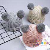 寶寶毛線帽子針織秋冬季兒童加絨女童0嬰兒1男童2嬰幼兒韓版潮3歲